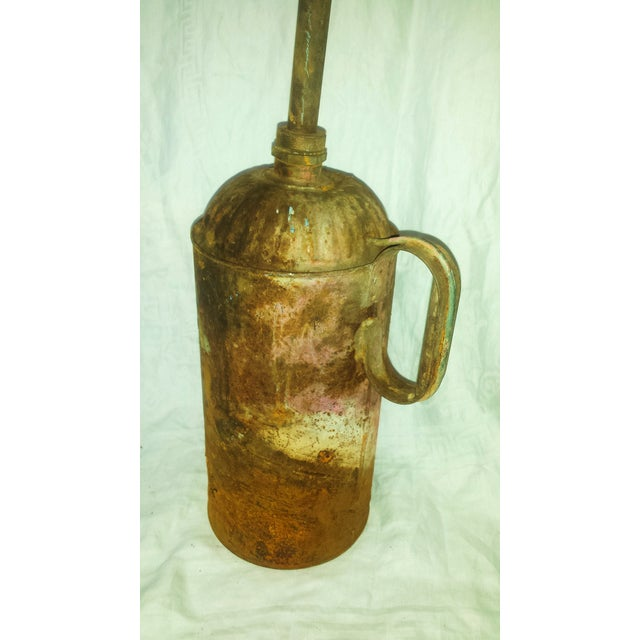 Antique Railroad Oil Can Industrial Rust Decor - Image 6 of 11