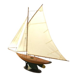Large Hand Crafted Sailboat Model