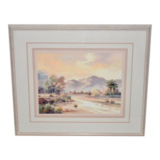 Late 20th Century Desert Landscape Oil Painting James Lee Sonoran For Sale