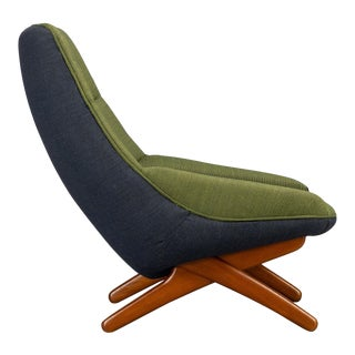 Danish ML-91 Reupholstered Lounge Chair by Illum Wikkelsø, 1960s For Sale