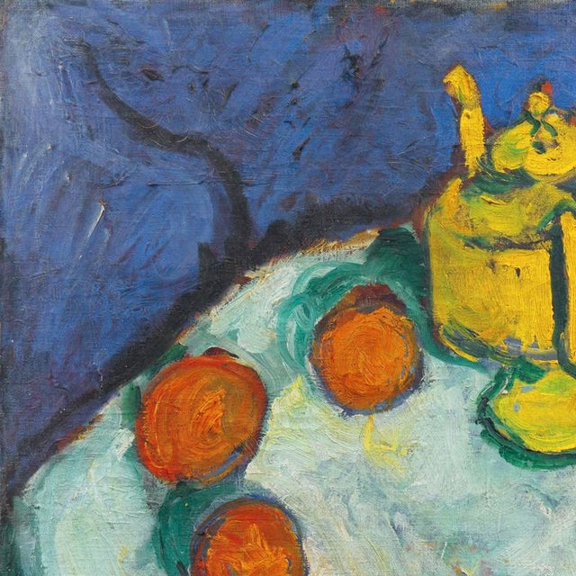 Impressionism Kay Christensen Still Life With Teapot 1922 For Sale - Image 3 of 8
