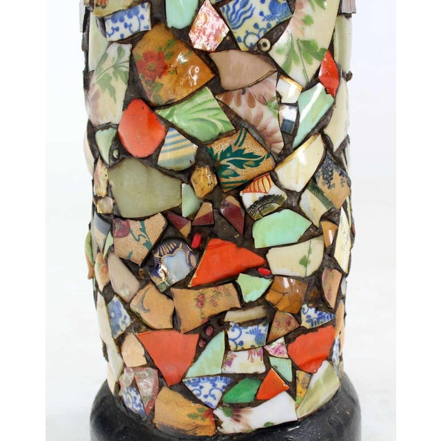 Mosaic Heavy Pottery Cane or Umbrella Stand - Image 5 of 10