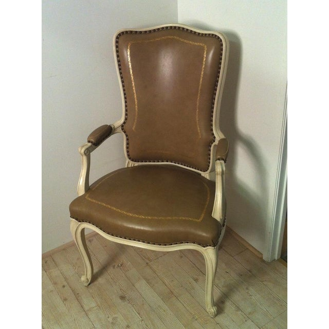 Leather Beistegui Armchair For Sale - Image 7 of 8