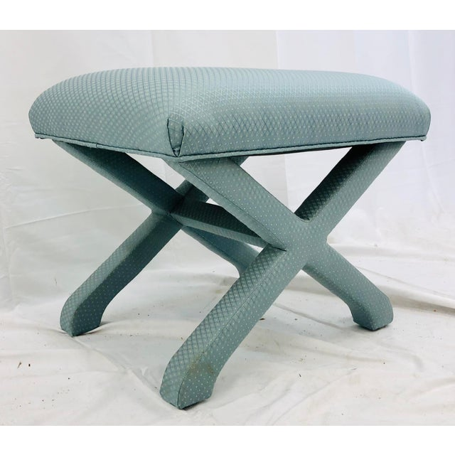 Vintage X Base Ottoman Bench For Sale In Raleigh - Image 6 of 8