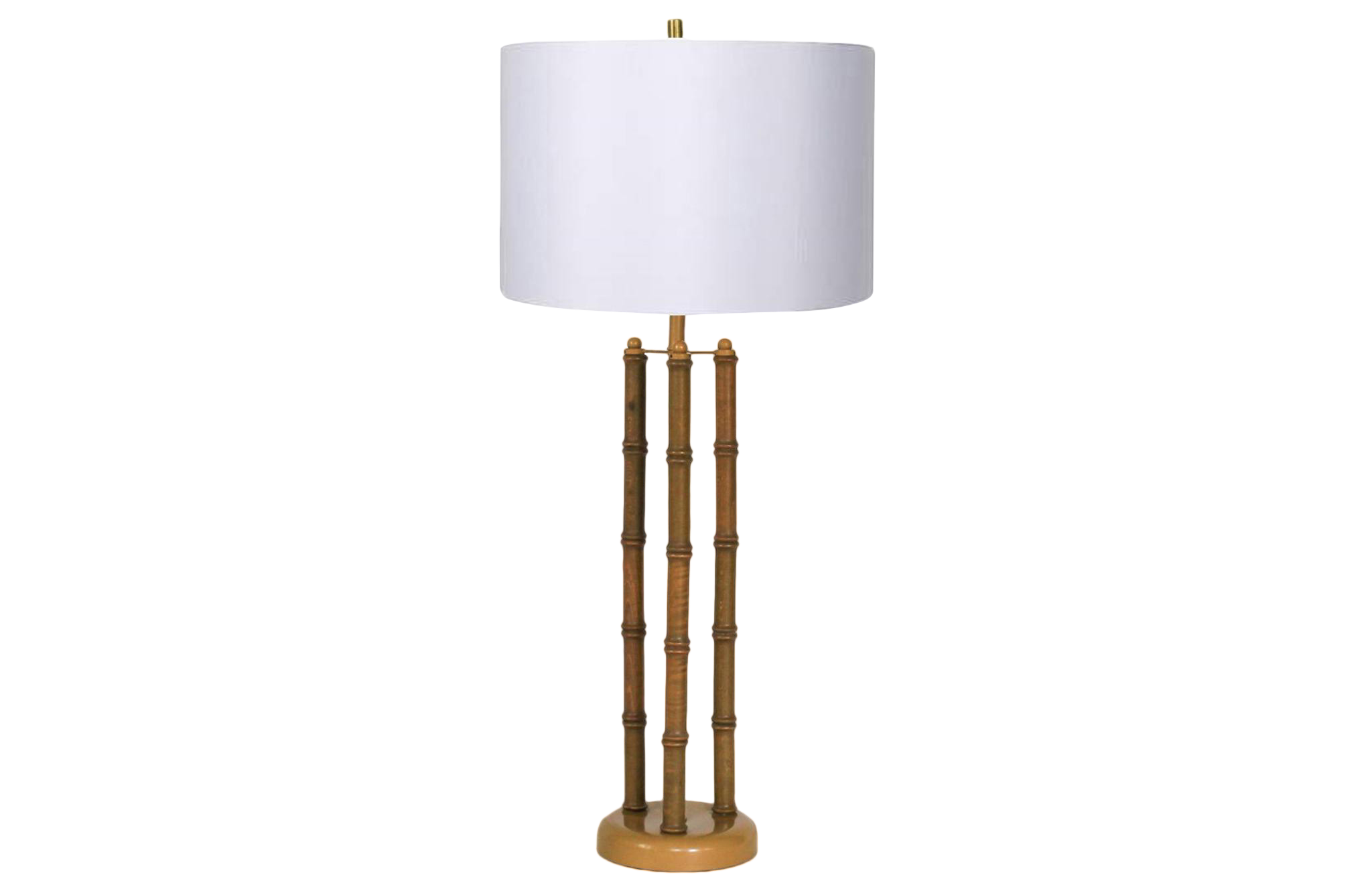 Tall Faux Bamboo Style Table Lamp