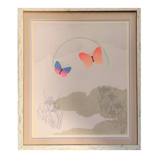 Late 20th Century Akira Wakata Japanese Signed Serigraph Print For Sale