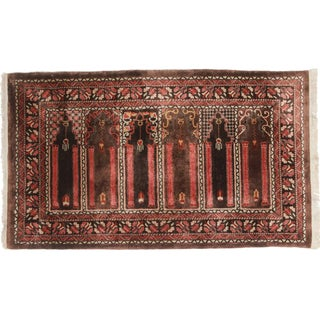 RugsinDallas Hand-Knotted Silk Chinese Rug - 2′9″ × 4′9″ For Sale