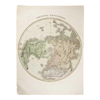 Early 19th Century English Map, Thomson's Northern Hemisphere, London For Sale