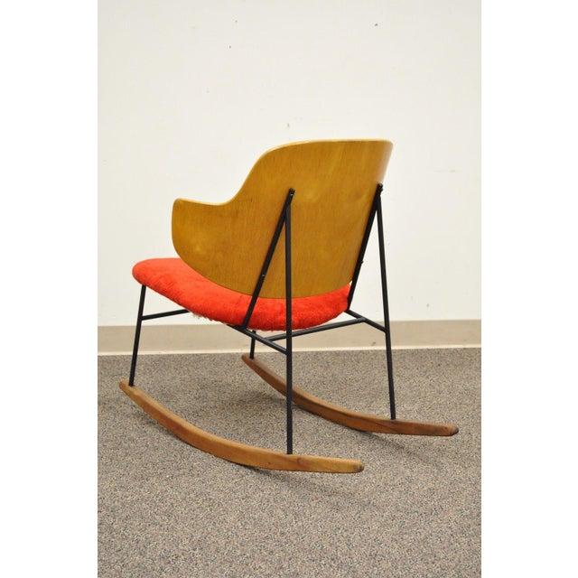 Vintage Mid Century Danish Modern Lb Kofod Larsen Penguin Rocking Chair Rocker - Image 8 of 11
