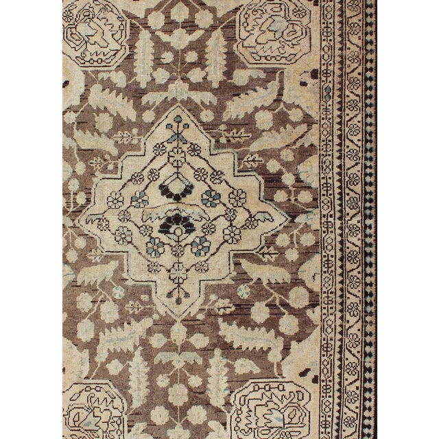 Semi Antique Lilihan Rug - 4′3″ × 6′9″ For Sale - Image 4 of 13