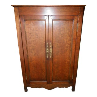 Gorgeous Vintage Solid Walnut Linen Armoire Pantry For Sale