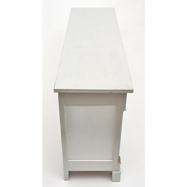 Wood French Painted Directoire Style Buffet For Sale - Image 7 of 11