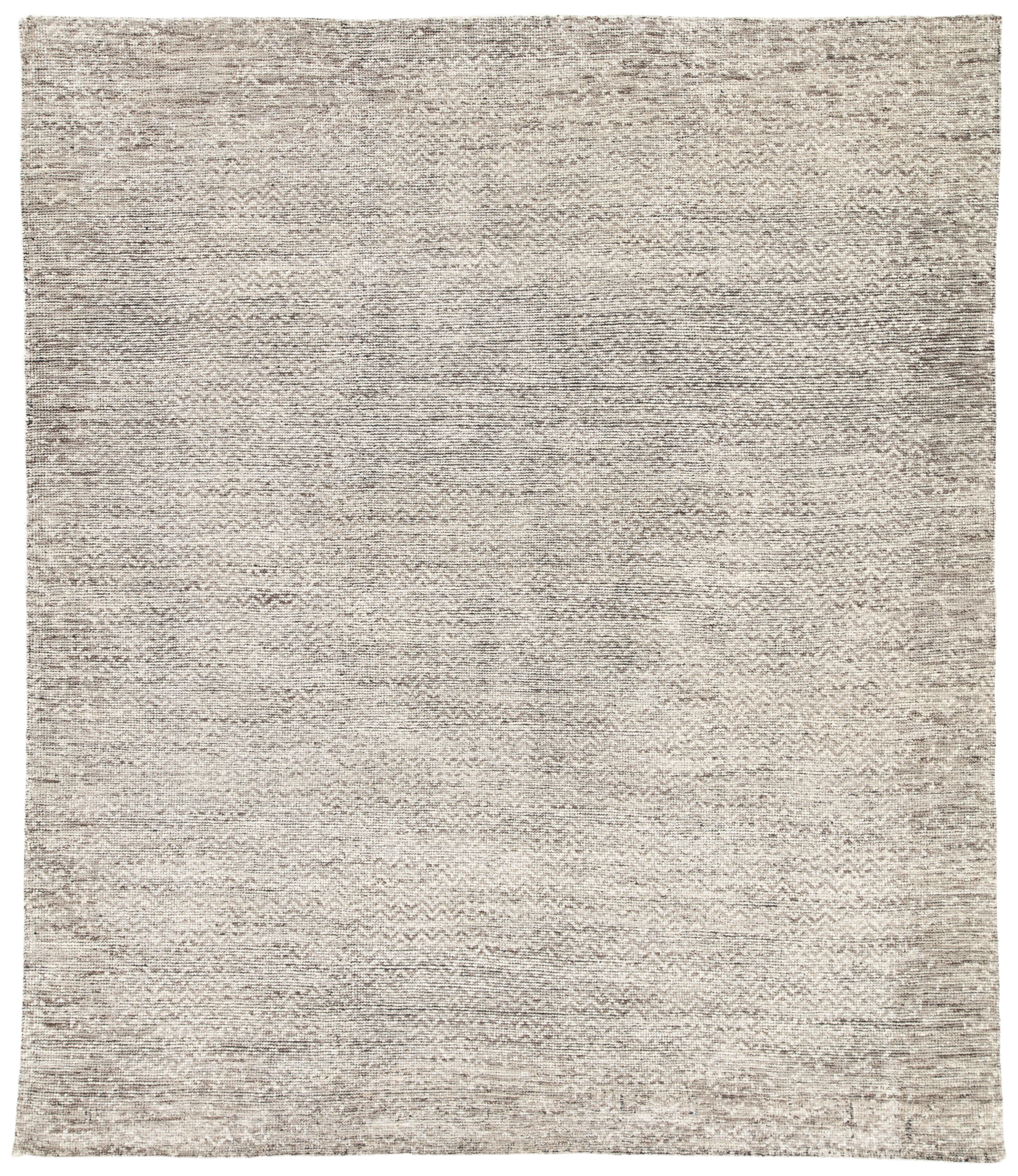 Jaipur Living Shervin Hand-Knotted Chevron Dark Gray & Ivory Area Rug - 8' X 10' For Sale