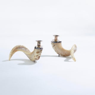 Ram's Horn Candle Holders - a Pair Preview