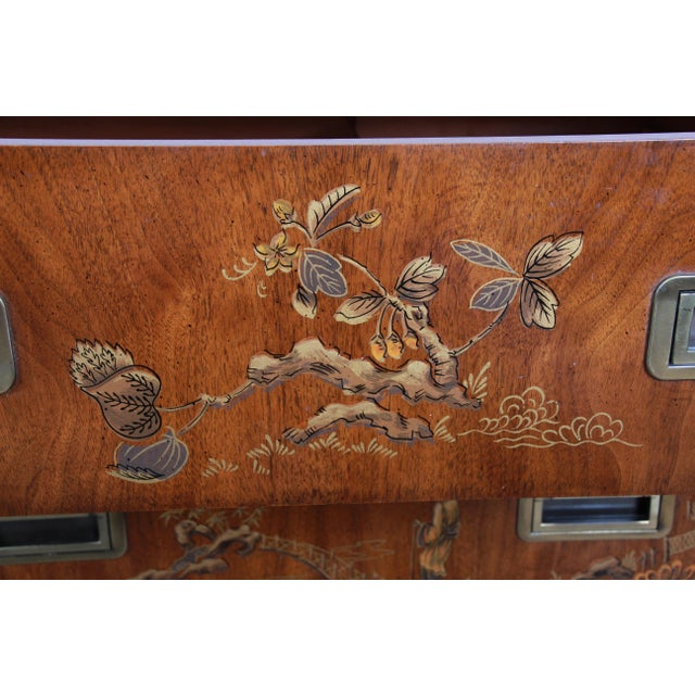 Drexel Heritage Hollywood Regency Chinoiserie Long Dresser or Credenza For Sale - Image 9 of 13