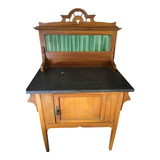 1900s Antique Marble Top Wash Stand For Sale
