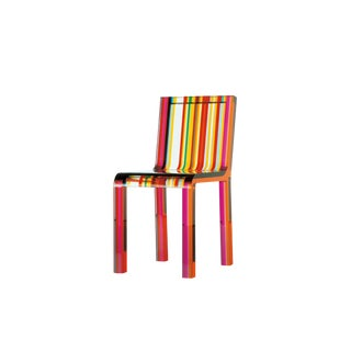 Patrick Norguet Rainbow Acrylic Side Chair For Sale