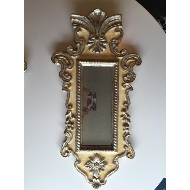 Vintage Venetian Mirrors - a Pair - Image 4 of 6