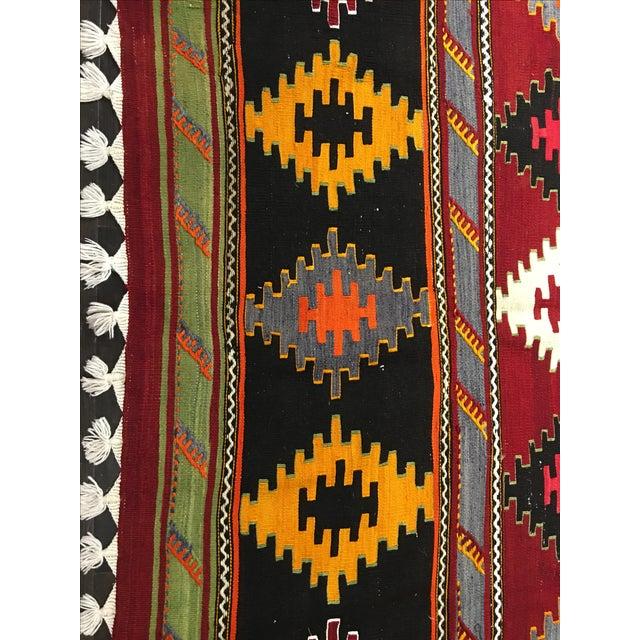 Vintage Turkish Kilim Rug - 6′2″ × 11′3″ - Image 4 of 10