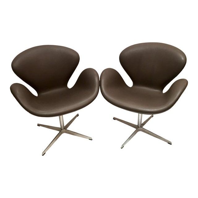 Arne Jacobsen for Fritz Hansen Swivel Swan Chairs - A Pair - Image 1 of 9