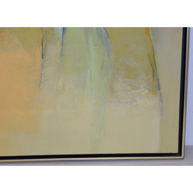 """Abstract Alexander Nepote """"Summit Bluff"""" Monumental Modernist Landscape C.1970 For Sale - Image 3 of 12"""