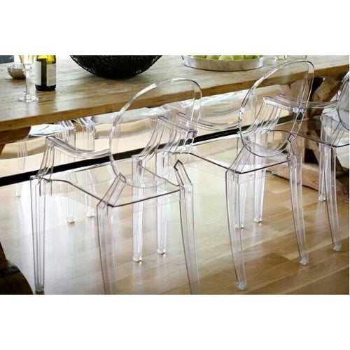 Philippe Starck Philippe Starck Ghost Chairs - Set of 4 For Sale - Image 4 of 7