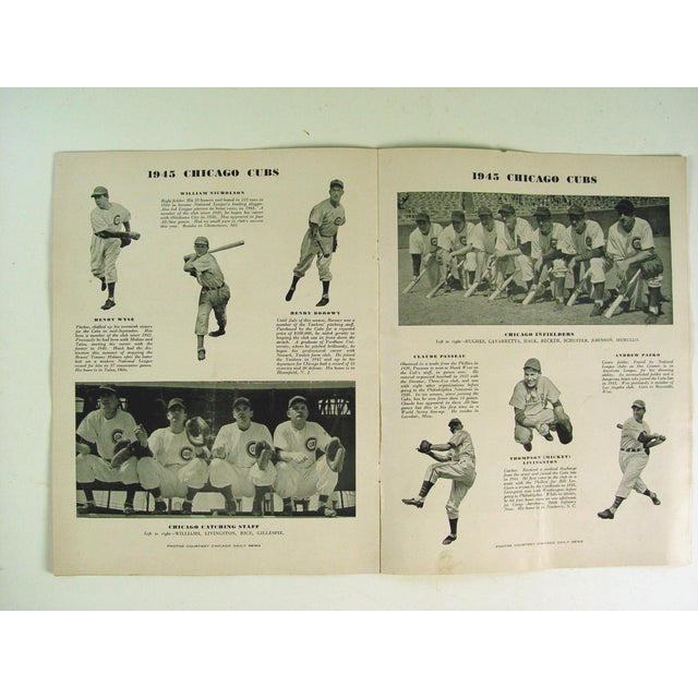 Vintage World Series Tigers & Cubs Program Book For Sale - Image 4 of 5