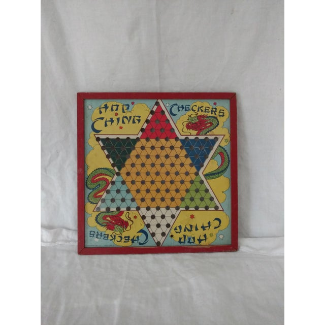 Antique 1940s Chinese Checker Game Board For Sale - Image 5 of 5