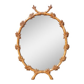 Vintage Italian Carved Mirror For Sale