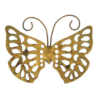 Brass Butterfly Trivet For Sale
