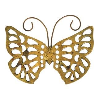 Brass Butterfly Trivet For Sale