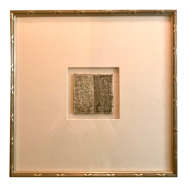 Small Matted Painting #2 With Silver Leaf Frame by Allen Kerr For Sale