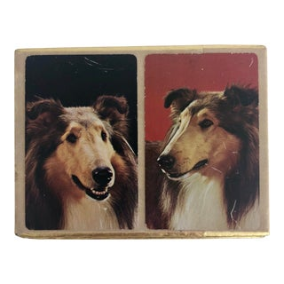 Vintage Collie Dog Playing Cards For Sale