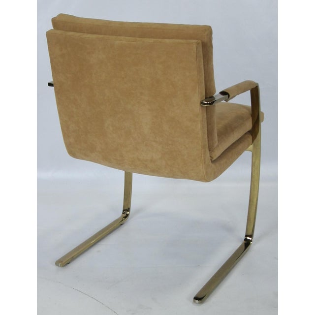 1970s Set of Four Brass Armchairs by Pace For Sale - Image 5 of 5