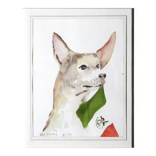 "Ray Smith, ""Mexican Chihuahua"", Watercolor on Paper For Sale"