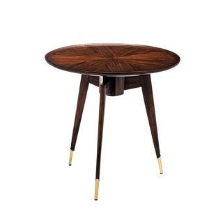Danish Modern Walnut Round Side Table