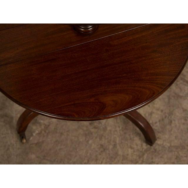 Mahogany George III Period Mahogany Pedestal Table, England circa 1820 For Sale - Image 7 of 8
