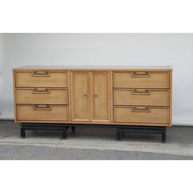Mid Century American of Martinsville Large Bleached Mahogany Dresser For Sale - Image 10 of 10