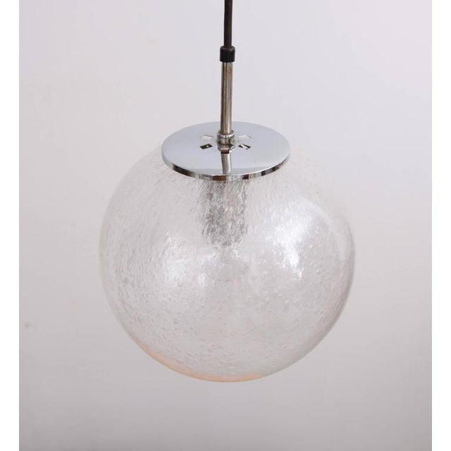 Mid-Century Modern One of 20 Globe Pendant Lamps by Glashütte Limburg For Sale - Image 3 of 5