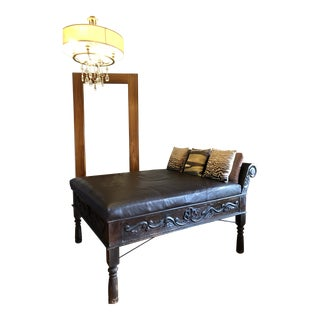 Modern Hand-Carved Central American Wood Daybed For Sale