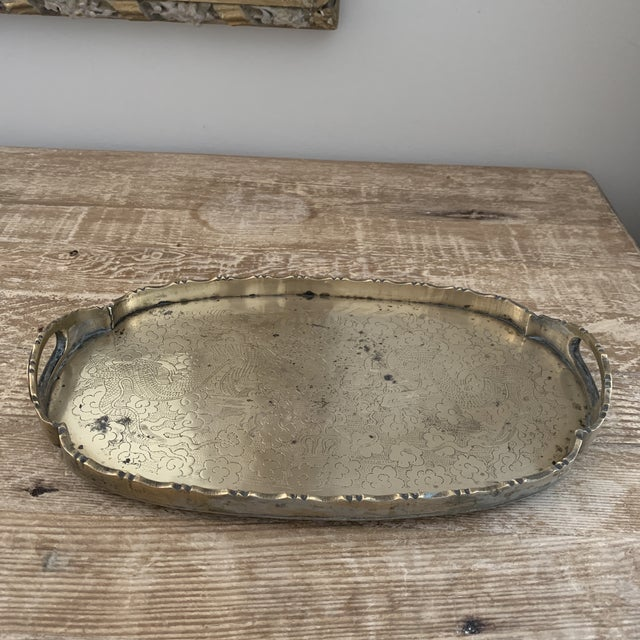 Small Chinese Brass Dragon Tray For Sale In New York - Image 6 of 6