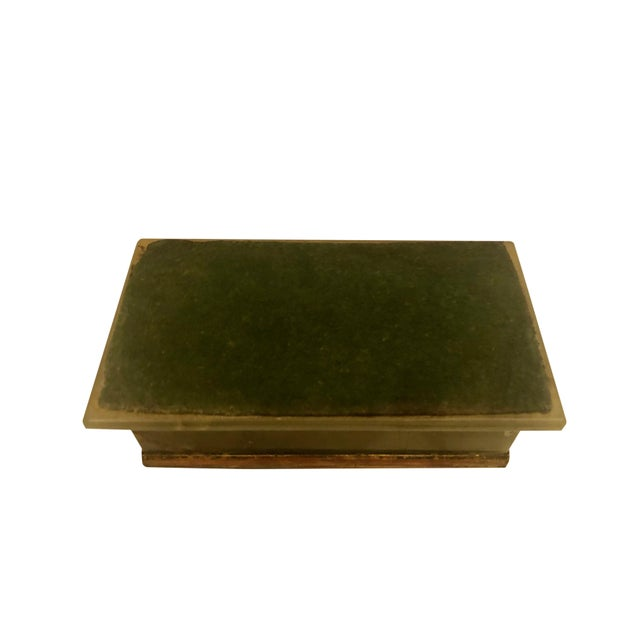 1940s Large Onyx and Bronze Table Box For Sale - Image 11 of 12