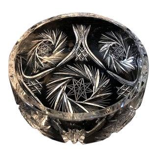 Lausitzer Pinwheel Star Pattern Crystal Bowl