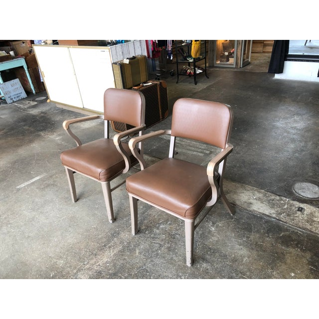 Steelcase Steelcase Mid Century Industrial Arm Chairs - a Pair For Sale - Image 4 of 9