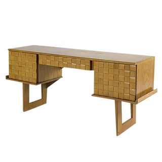 Paul Laszlo Bleached Oak Desk for Brown Saltman For Sale
