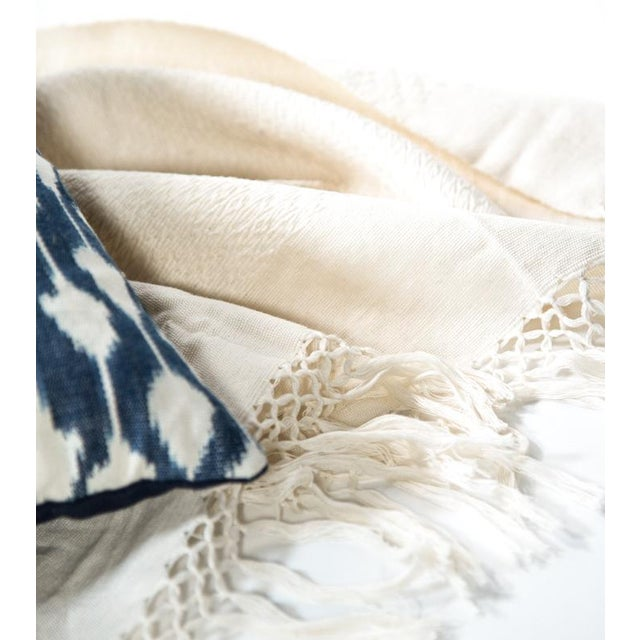 Ivory Handwoven Chiapas Throw - Image 3 of 5