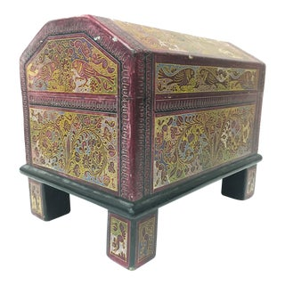 Hand Painted Mexican Trinket Box