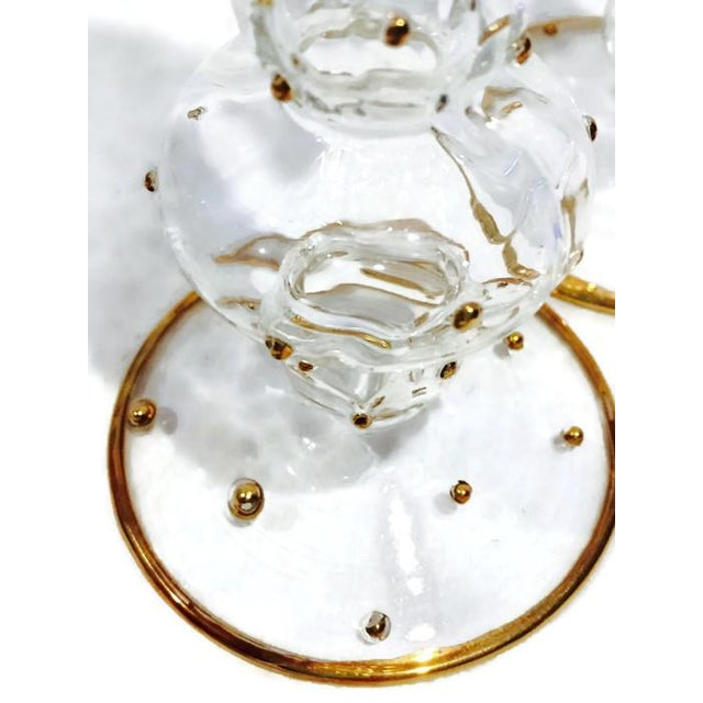 Blown Glass Candlestick Holders - A Pair - Image 3 of 9