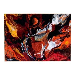 Leonardo Nierman Scale Abstract Tapestry Circa 1965 For Sale