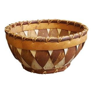 "Vintage Eskimo ""Birch Bark Kobuk River"" Basket"